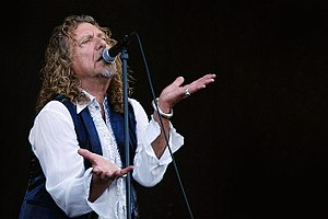 Robert Plant performing with Alison Krauss at ...