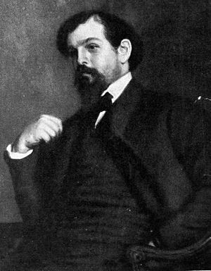 Portrait of composer Claude A. Debussy.
