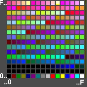 English: A 256-colour palette in a GIF image file