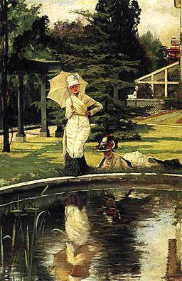 James Tissot - In an English Garden