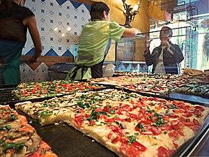 Pizza al taglio at Trastevere in Rome