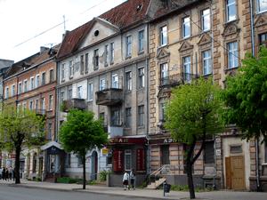 Deutsch: Russische Föderation: Häuserzeile in ...