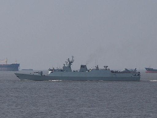 Type 056 corvette in ShangHai
