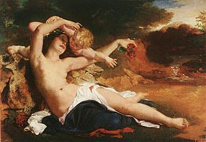 Brocky, Karoly - Venus and Amor (1850)