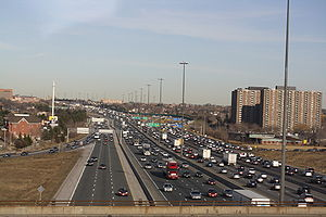One of the busiest sections of Highway 401