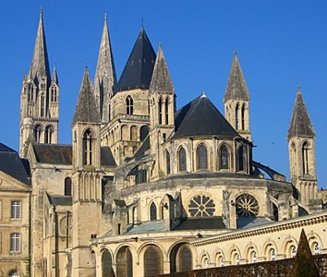 The Abbey Of Saint Etienne Caen Rebuilt From Romanesque To Gothic Has Nine Towers Th Century