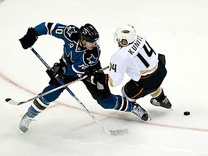 San Jose Sharks defenceman Christian Ehrhoff b...