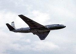 De Havilland Comet, o primeiro jato comercial da história da aviação. Também foi operada pela Força Aérea Britânica (RAF), como pode ser visto nesta foto.