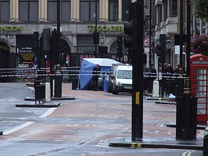 Car bomb in Haymarket London of the 2007 Londo...