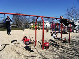 Children in Swings