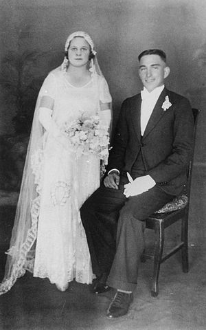 Wedding photograph from the marriage of Eileen...