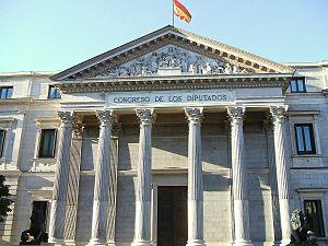 Palacio del Congreso de los Diputados, Madrid.