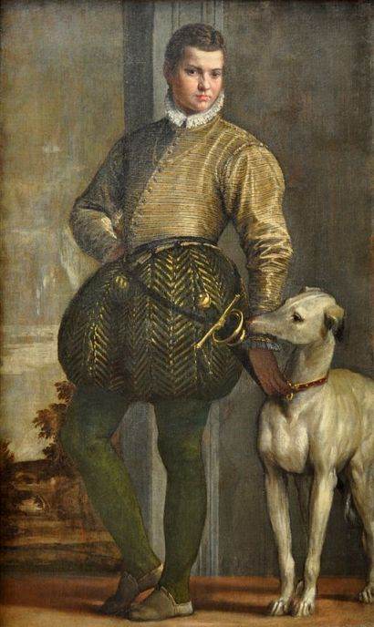 """Boy with a Greyhound"" by Paolo Veronese"
