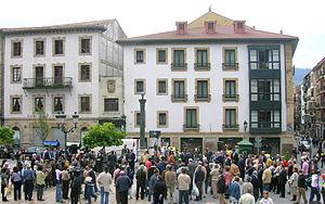 Tribute to Miguel de Unamuno in Unamuno Square...