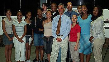 English: August 26: Congressman Rahm Emanuel a...