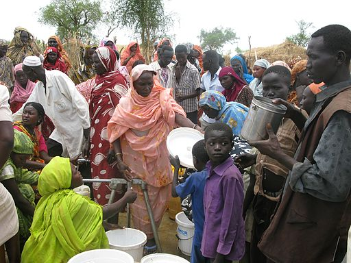 Refugees queue for water in the Jamam camp, South Sudan (7118597209)