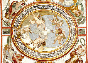 Fresco at the Scala Sancta in Rome.