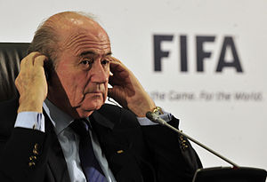 Sepp Blatter at signing of agreement creating ...