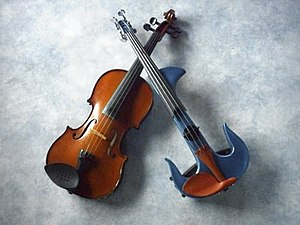 English: Silent violin