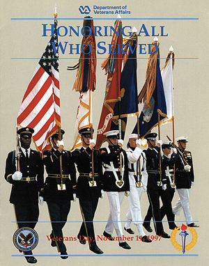 English: Veterans Day poster for 1997.