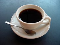 A photo of a cup of coffee.