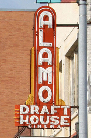 English: The Alamo Drafthouse sign outside of ...