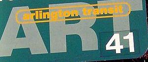 English: Arlington Transit Bus taken in Fort M...