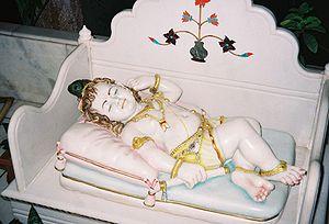 English: baby Krishna - Sleeping beauty