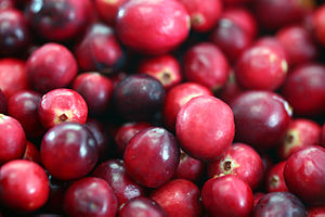 English: cranberries grown and harvested in Ma...