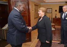 Cyril Ramaphosa meets with Chilean president Michelle Bachelet, 2014