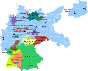 Deutsch: Die Länder des Deutschen Reiches und ...