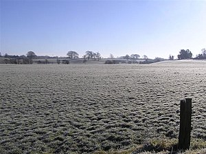 English: Early morning frost, Coneywarren The ...