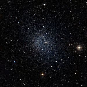 English: The Fornax dwarf galaxy is one of our...