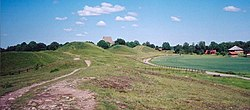 Gamla Uppsala, the centre of worship in Sweden until the temple was destroyed in the late 11th century.