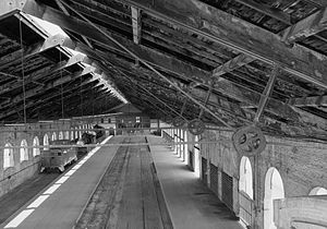 English: Train Sheds at Georgia Central Railro...