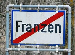 Deutsch: Ortsende von Franzen in Niederösterreich