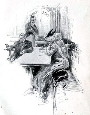 Harrison Fisher illustration, from Hearts and ...
