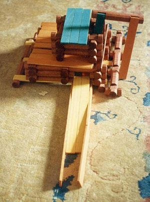 Sawmill made out of en:Lincoln Logs.