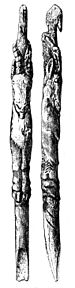 Paleolithic spear-thrower showing an Ibex.