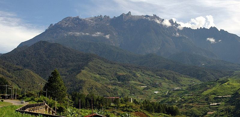 View of Mount Kinabalu from Kundasan