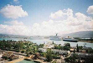 Français : Le port de Montego Bay