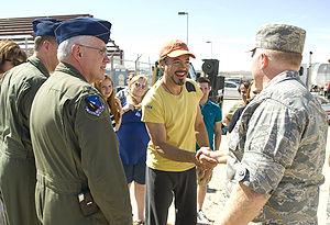 "English: Robert Downey Jr. (center), ""Iro..."