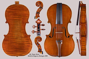English: High resolution image of a violin mad...