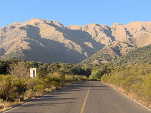 Road on the outskirts of Merlo, Province of Sa...