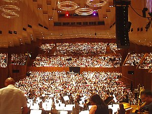 Main concert hall of the Sydney opera house