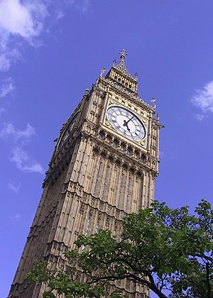 The tower of Big Ben, London.