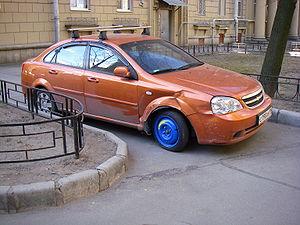 Русский: Докатка на побывавшей в аварии машине...