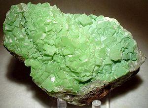 Duftite, Calcite :: Locality: Tsumeb Mine (Tsu...