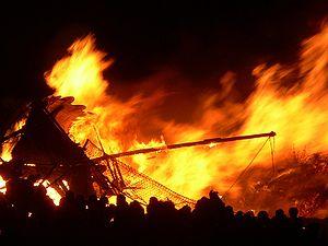 A Viking longship is burnt during Edinburgh's ...
