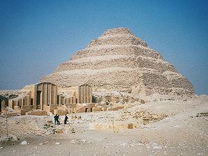 Step pyramid of Djoser, Saqqara, Egypt. Photo ...